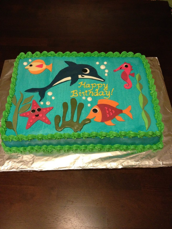 Tremendous Fish Themed Cake Tickle Me Pink Cakes Personalised Birthday Cards Cominlily Jamesorg