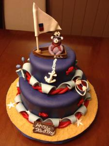 nautical theme cake with a hint of pirate